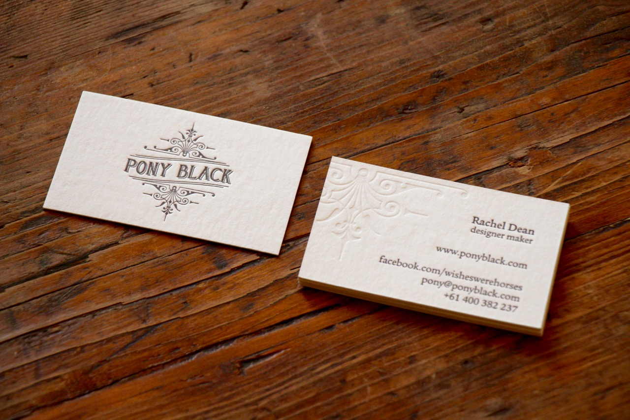 Business cards designed for Pony Black by Brave Agency